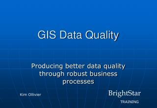 GIS Data Quality