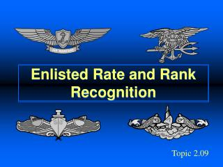 Enlisted Rate and Rank Recognition