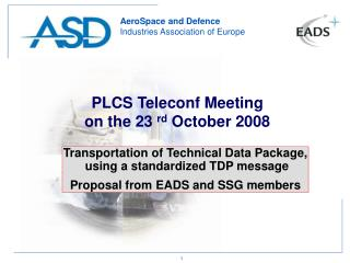 PLCS Teleconf Meeting on the 23  rd  October 2008