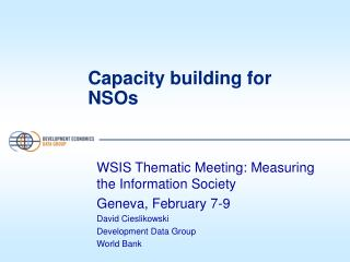 Capacity building for NSOs