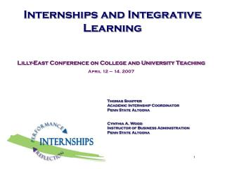 Internships and Integrative Learning