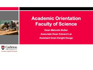 Academic Orientation  Faculty of Science