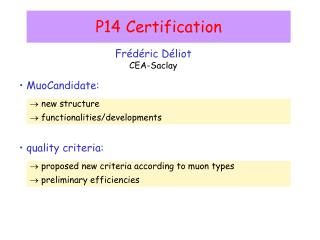 P14 Certification