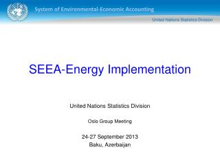 SEEA-Energy Implementation