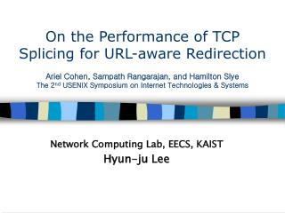 Network Computing Lab, EECS, KAIST Hyun-ju Lee