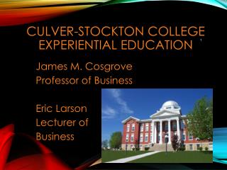 Culver-Stockton College Experiential Education