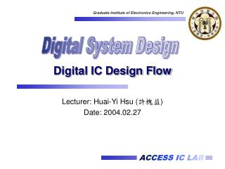 Digital IC Design Flow