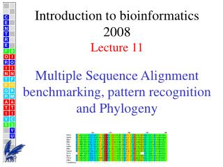 Multiple Sequence Alignment benchmarking, pattern recognition  and Phylogeny