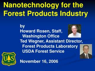 Nanotechnology for the Forest Products Industry