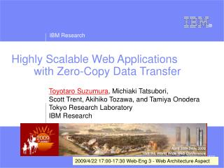 Highly Scalable Web Applications  	with Zero-Copy Data Transfer