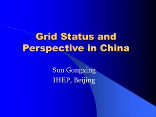 Grid Status and Perspective in China