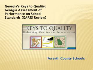 Georgia's Keys to Quality: Georgia Assessment of Performance on School Standards (GAPSS Review)