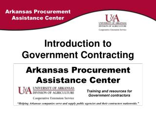 Introduction to Government Contracting