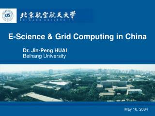 E-Science & Grid Computing in China