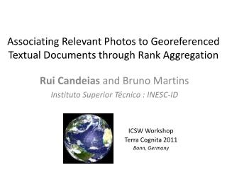 Associating Relevant Photos to Georeferenced Textual Documents through Rank Aggregation