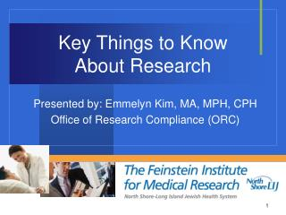 Key Things to Know  About Research