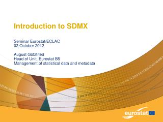 Introduction to SDMX
