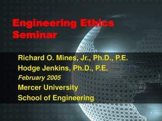 Engineering Ethics Seminar