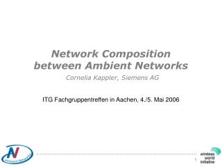 Network Composition  between Ambient Networks Cornelia Kappler, Siemens AG