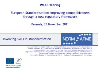 Involving SMEs in standardisation