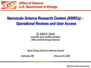 Office of Science U.S. Department of Energy
