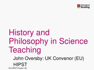 History and Philosophy in Science Teaching