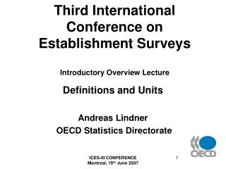 Third International Conference on Establishment Surveys Introductory Overview Lecture