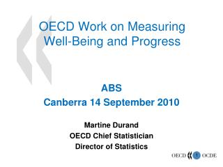 OECD Work on Measuring  Well-Being and Progress