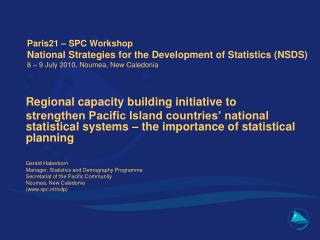 Regional capacity building initiative to