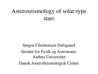 Asteroseismology of solar-type stars