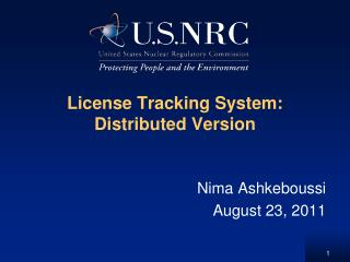 License Tracking System:  Distributed Version