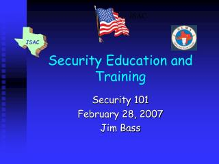 Security Education and Training