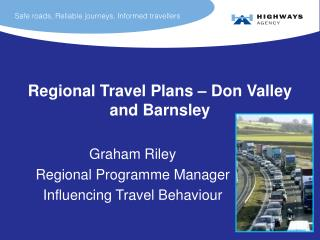 Regional Travel Plans – Don Valley and Barnsley