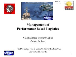 Management of  Performance Based Logistics Naval Surface Warfare Center Crane, Indiana
