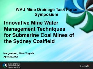 WVU Mine Drainage Task Force Symposium