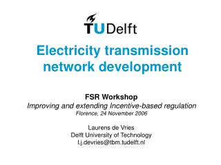Electricity transmission network development