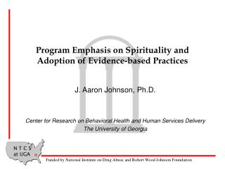 Program Emphasis on Spirituality and Adoption of Evidence-based Practices