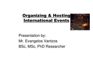 Organizing & Hosting International Events