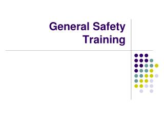 General Safety Training