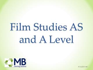 Film Studies AS and A Level