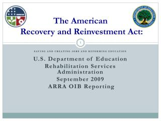 The American   Recovery and Reinvestment Act: