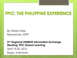 FPIC: THE PHILIPPINE EXPERIENCE