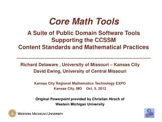 Core Math Tools