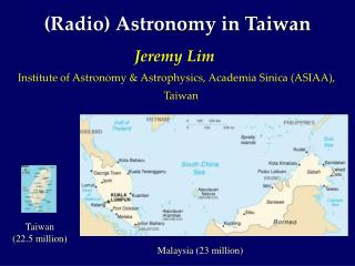 (Radio) Astronomy in Taiwan