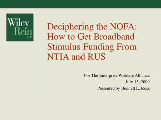 Deciphering the NOFA: How to Get Broadband Stimulus Funding From NTIA and RUS