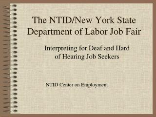 The NTID/New York State Department of Labor Job Fair