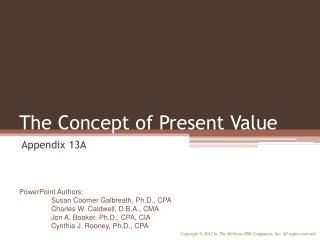 The Concept of Present Value