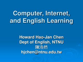 Computer, Internet, and English Learning