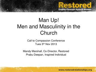 Man Up! Men and Masculinity in the Church