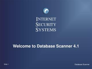 Welcome to Database Scanner 4.1